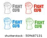 fight club logos  emblems ... | Shutterstock .eps vector #509687131