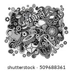 cartoon cute doodles hand drawn ... | Shutterstock .eps vector #509688361