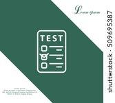 line checkmark icon | Shutterstock .eps vector #509695387