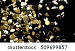 abstract gold on black... | Shutterstock . vector #509699857
