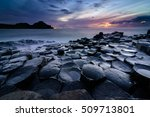 giant's causeway  co. antrim ... | Shutterstock . vector #509713801