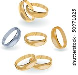 wedding rings | Shutterstock . vector #50971825
