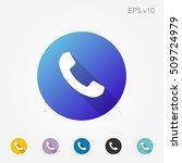 colored icon of phone symbol...