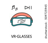 vr   glasses line icon. vector...