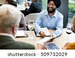 business people dining together ...   Shutterstock . vector #509732029