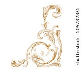 gold vintage baroque element... | Shutterstock .eps vector #509732365