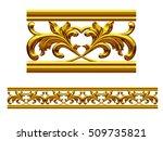 golden  ornamental segment  ... | Shutterstock . vector #509735821