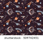 Space Vector Seamless Pattern....