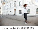 afro american photographer on... | Shutterstock . vector #509742529