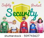 children colorful costume... | Shutterstock . vector #509743627