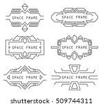 vector line frames set in space ... | Shutterstock .eps vector #509744311