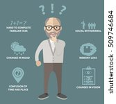 early signs of alzheimer... | Shutterstock .eps vector #509746684