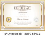 certificate or diploma template | Shutterstock .eps vector #509755411