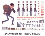 male thief character creation... | Shutterstock .eps vector #509755609