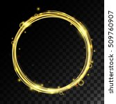 vector magic circle with shiny... | Shutterstock .eps vector #509760907
