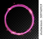 vector magic ring with light... | Shutterstock .eps vector #509760919