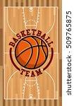 basketball sport emblem icon... | Shutterstock .eps vector #509765875