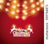 installation of christmas... | Shutterstock .eps vector #509766871
