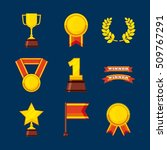 set awards championship icons... | Shutterstock .eps vector #509767291