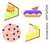 set of colorful flat styled... | Shutterstock .eps vector #509769241