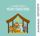 happy merry christmas card... | Shutterstock .eps vector #509769979