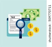 tax time flat icons vector... | Shutterstock .eps vector #509770711