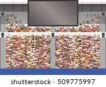 large crowd in stadium... | Shutterstock .eps vector #509775997