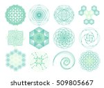 dna molecule. atom. sacred... | Shutterstock .eps vector #509805667
