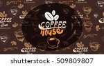 illustration banner for coffee ... | Shutterstock . vector #509809807