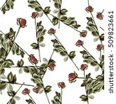 roses.seamless background.... | Shutterstock . vector #509823661