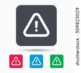 warning icon. attention... | Shutterstock .eps vector #509825029
