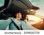 wide angle selfie of funny... | Shutterstock . vector #509830729