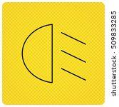 passing light icon. dipped beam ... | Shutterstock .eps vector #509833285