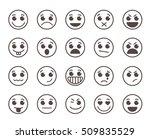 smiley face flat line vector... | Shutterstock .eps vector #509835529