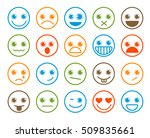 smiley emoticons vector icon... | Shutterstock .eps vector #509835661