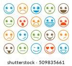 smiley emoticons vector icon... | Shutterstock .eps vector #509835661