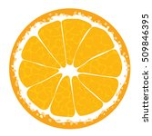 orange slice . orange icon.... | Shutterstock .eps vector #509846395