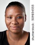 portrait of real black african... | Shutterstock . vector #509854555
