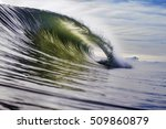 Green Wave Breaking In The Ocean