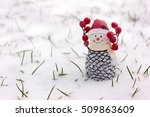 Toy Cone Snowman Standing On...