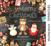 merry christmas and new year... | Shutterstock .eps vector #509865181