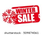 winter sale word red stamp text ... | Shutterstock .eps vector #509874061
