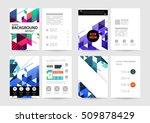 geometric background template... | Shutterstock .eps vector #509878429