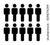 people icon   men crowd vector... | Shutterstock .eps vector #509879299