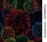 firework seamless background.  | Shutterstock .eps vector #509880031