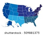 usa regional map | Shutterstock .eps vector #509881375