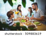 happy family talking to each... | Shutterstock . vector #509883619