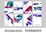 geometric background template... | Shutterstock .eps vector #509886094