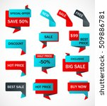 vector stickers  price tag ... | Shutterstock .eps vector #509886781