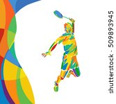 summer games abstract colorful... | Shutterstock .eps vector #509893945
